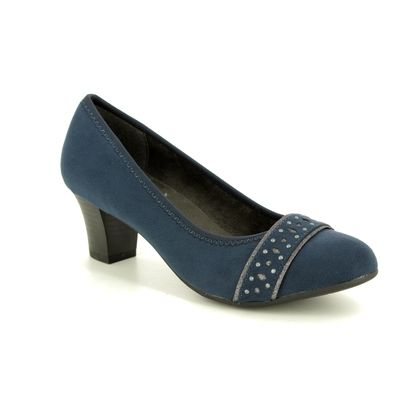 Jana Court Shoes - Navy suede - 22474/22805 ABURA 91 H FIT