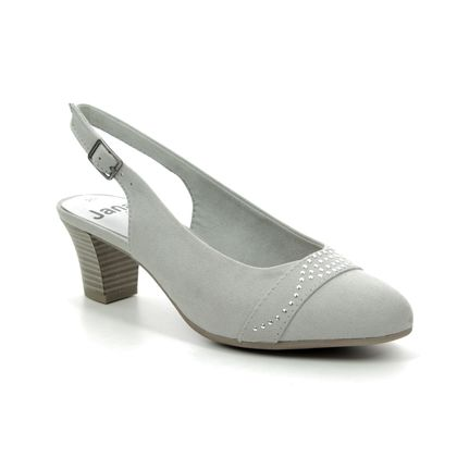 Jana Court Shoes - Light Grey Suede - 29660/22204 ABUSLING