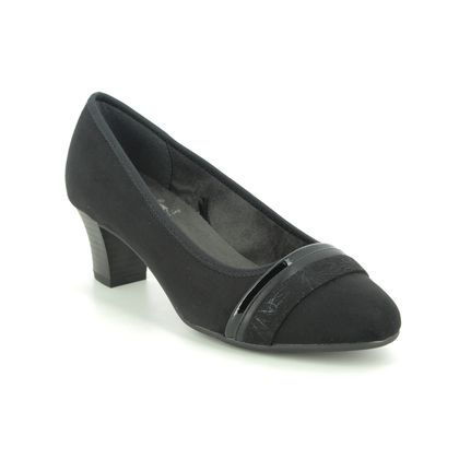 Jana Court Shoes - Black - 22460/25001 ABUSTRAP