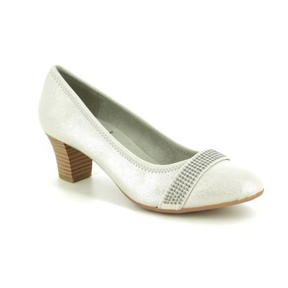 Jana Court Shoes - Silver - 22464/22191 ABUSTUD H FIT