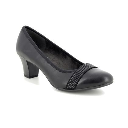 Jana Court Shoes - Black - 22464/23001 ABUSTUD H FIT