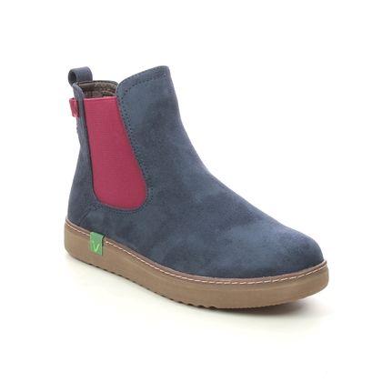 Jana Chelsea Boots - Navy Red - 25480/27889 DURLO VEGAN WIDE