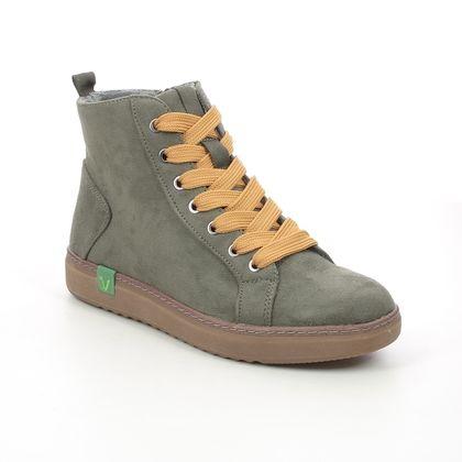 Jana Hi Top Boots - Khaki - 25280/27769 DURLHIT VEGAN