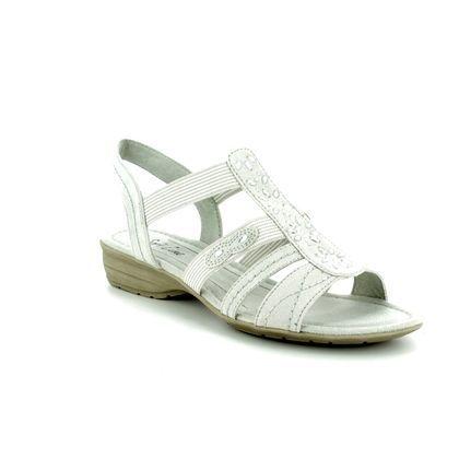 Jana Comfortable Sandals - Off-white - 28163/20/101 ELEAJANA 81 H FIT