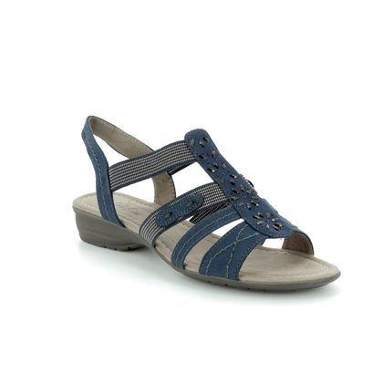 Jana Comfortable Sandals - Navy - 28163/20/805 ELEAJANA 81 H FIT