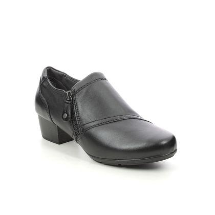 Jana Shoe Boots - Black leather - 24318/27001 MIRZIP WIDE
