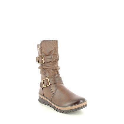 Jana Mid Calf Boots - Brown - 26439/27304 NOVARA WIDE TEX