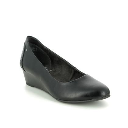 Jana Wedge Shoes  - Black - 22366/24001 QUIVER H FIT