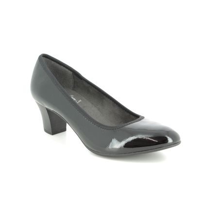 Jana Court Shoes - Black patent - 22463/22018 SALLY 91 H FIT
