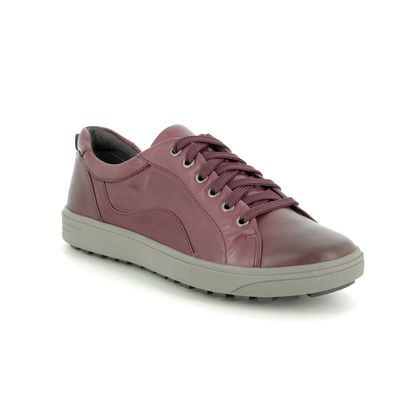 Jana Comfort Lacing Shoes - Wine leather - 23601/23549 SITANE H FIT