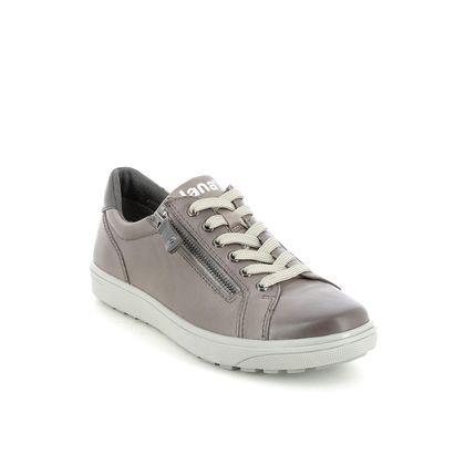 Jana Comfort Lacing Shoes - Grey - 23611/27204 SITANES WIDE