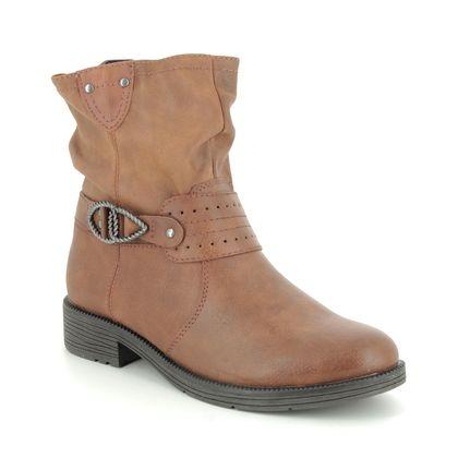 Jana Ankle Boots - Tan - 25413/23305 SUSPEENO H FIT
