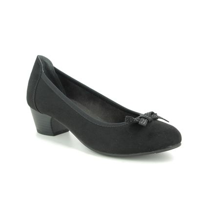 Jana Court Shoes - Black - 22363/23001 ZATORABO H FIT