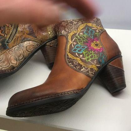 Laura Vita Boots - Ankle - Tan Leather - 9504/11 ALCIZEEO 03