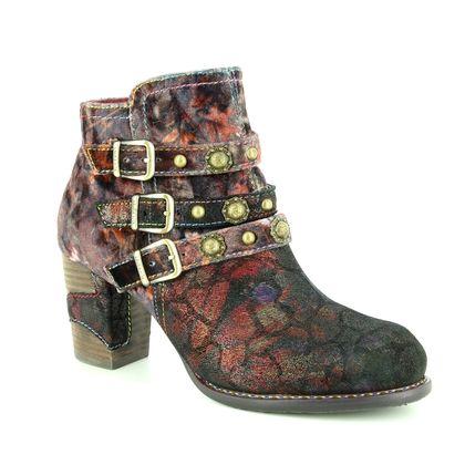Laura Vita Fashion Ankle Boots - Wine floral - 8501/81 ANNA 128