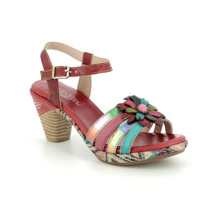 Laura Vita Heeled Sandals - Red multi - 9101/80 BELFORT 07
