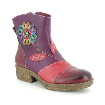 Laura Vita Boots - Ankle - Purple multi - 9512/95 COCREEO 03