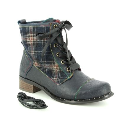 Laura Vita Fashion Ankle Boots - Navy - 8502/72 COLOMBE 16