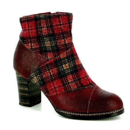 Laura Vita Fashion Ankle Boots - Dark Red - 8503/80 ELEA 018