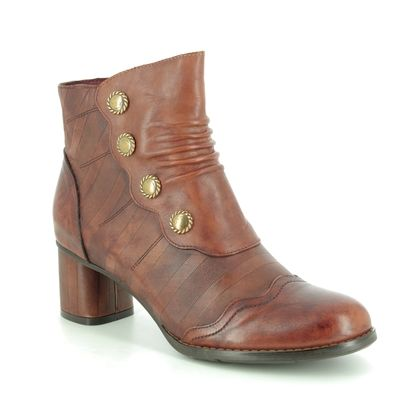 Laura Vita Boots - Ankle - Tan Leather - 9516/11 GICNO 34