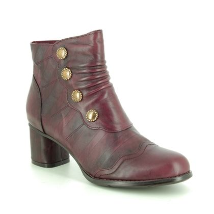 Laura Vita Boots - Ankle - Wine leather - 9516/81 GICNO 34