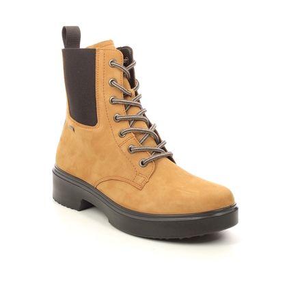 Legero Lace Up Boots - Yellow nubuck - 2000102/6300 ANGEL GTX