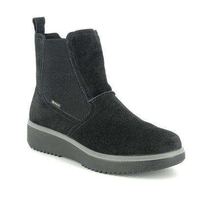 Legero Chelsea Boots - Black Suede - 09626/00 CAMINO GORE