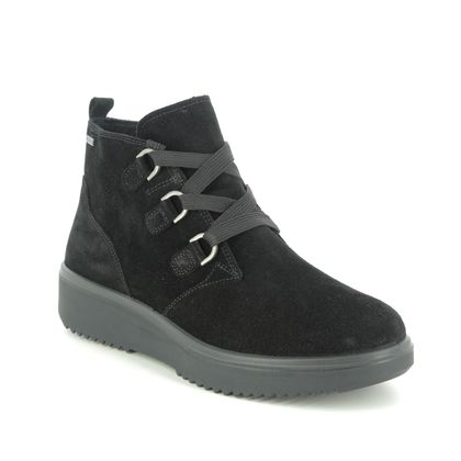 Legero Lace Up Boots - Black suede - 2009628/0000 CAMINO LACE GTX