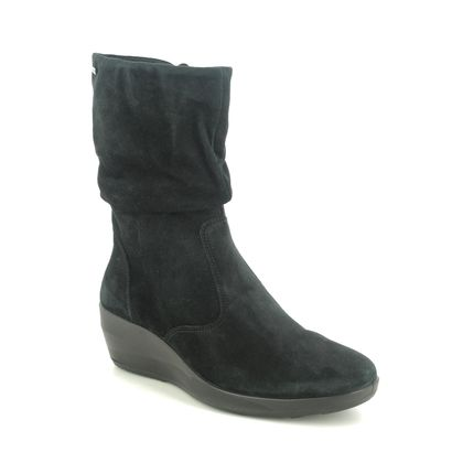 Legero Mid Calf Boots - Black suede - 2000670/0000 DIVINE MID GTX
