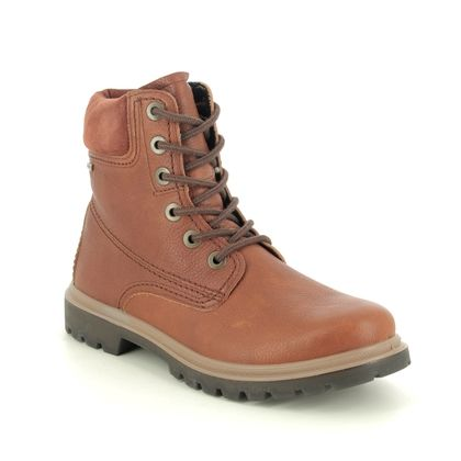 Legero Lace Up Boots - Tan Leather - 2009672/3300 MONTA LACE GTX