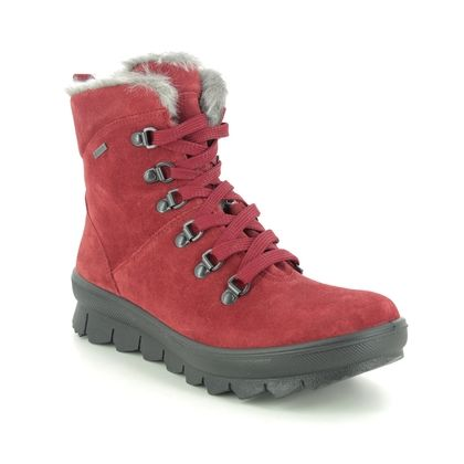 Legero Ankle Boots - Red suede - 2000503/5100 NOVARA GTX