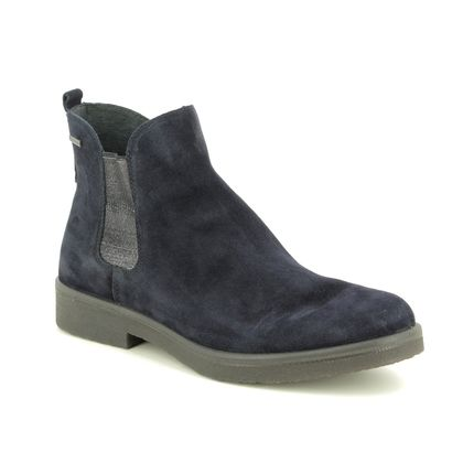 Legero Chelsea Boots - Navy Suede - 00684/83 SOANA GORE-TEX