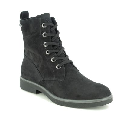 Legero Lace Up Boots - Black Suede - 2000685/0200 SOANA LACE GTX