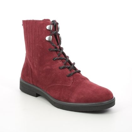 Legero Lace Up Boots - Red suede - 2000870/5100 SOANA LACE GTX