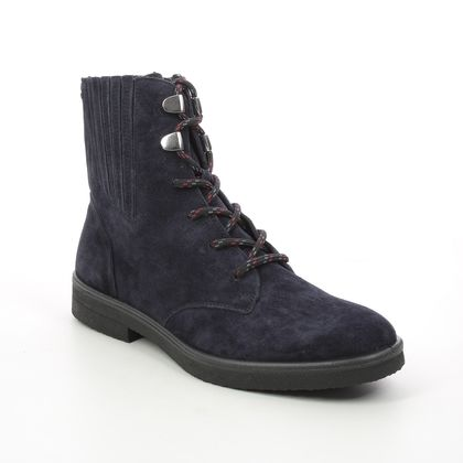 Legero Lace Up Boots - Navy Suede - 2000870/8000 SOANA LACE GTX