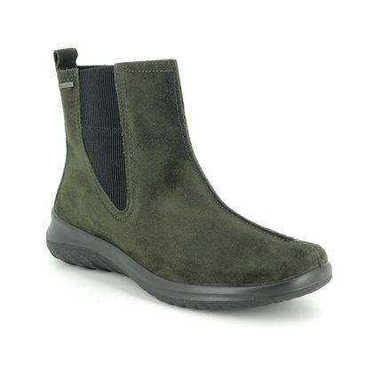Legero Chelsea Boots - Green Suede - 09571/78 SOFT CHELSEA GTX