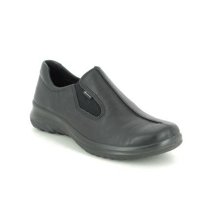 Legero Comfort Slip On Shoes - Black leather - 2009568/0100 SOFT SHOE GTX