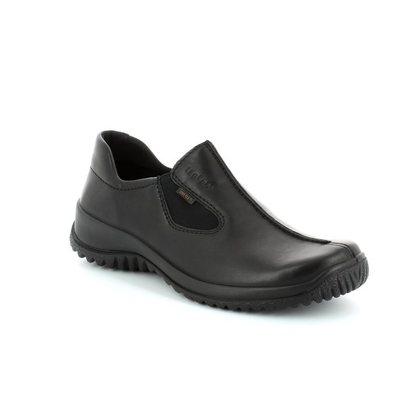Legero Comfort Slip On Shoes - Black - 00568/01 SOFTSHOE GORE-TEX