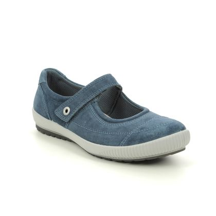 Legero Mary Jane Shoes - Blue Suede - 00822/86 TANARO BAR