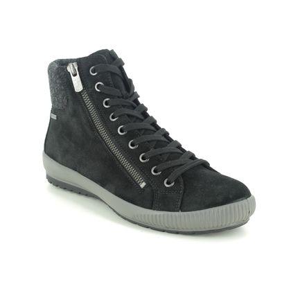 Legero Lace Up Boots - Black Suede - 2009614/0000 TANARO HI GORE