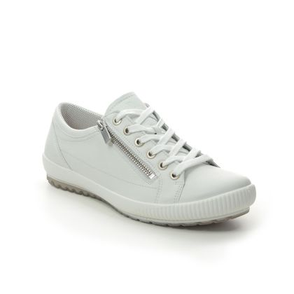 Legero Comfort Lacing Shoes - White Leather - 00818/10 TANARO ZIP