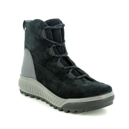 Legero Walking Boots - Black Suede - 2009561/0000 TIRANO GTX