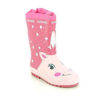 Lelli Kelly Girls Boots - Pink - LK5950/AC64 HOLLEE WELLIE