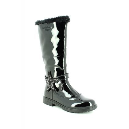 Lelli Kelly Girls Boots - Black patent - LK3662/DB01 MARION HIGH