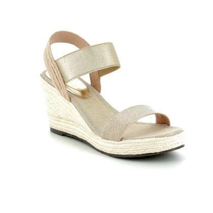 Lotus Wedge Sandals - Gold - 20380/26 ADITA