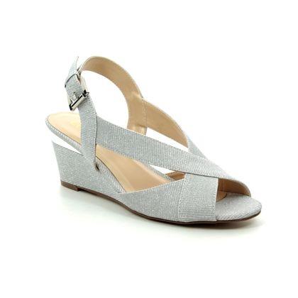 Lotus Heeled Sandals - Silver - ULS071/01 ADIVA