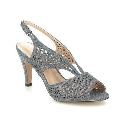 Lotus Heeled Sandals - Pewter glitz - ULS162/51 AMELIA