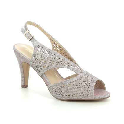 Lotus Heeled Sandals - Pink - ULS162/60 AMELIA