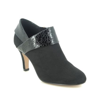 Lotus Heeled Boots - Black - ULS210/30 ANGELA VICKI