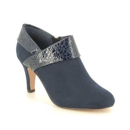 Lotus Heeled Boots - Navy - ULS210/70 ANGELA VICKI